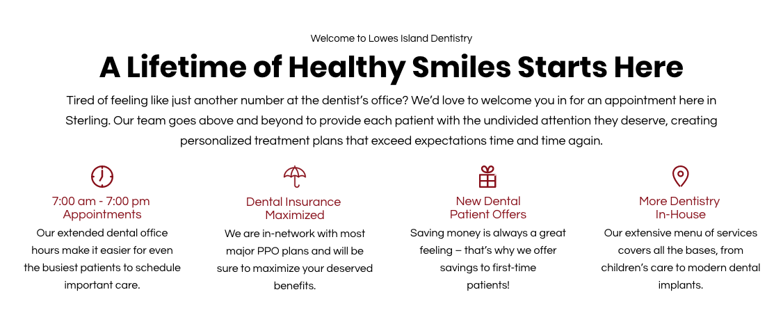 Lowes Island Dentistry reviews | Dentists at 20789 Great Falls Plaza Suite 104 - Sterling VA
