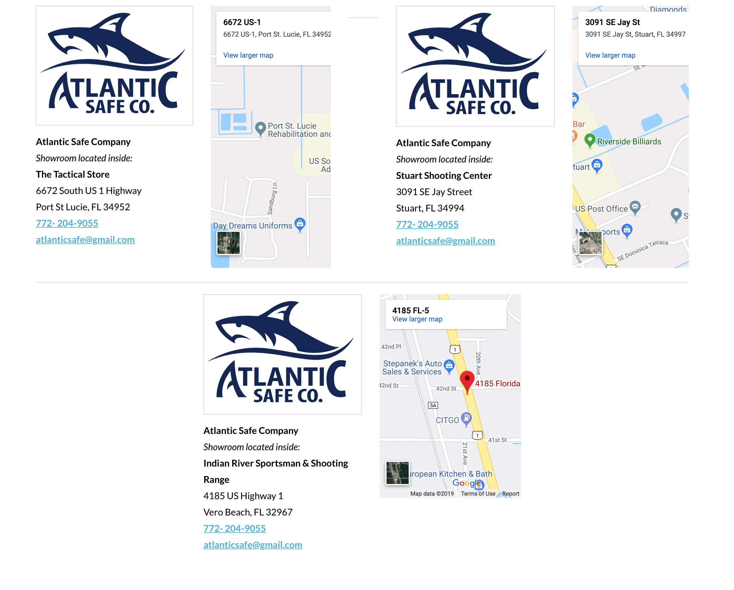 Atlantic Safe Company reviews | Safe Stores at 4920 Christensen Rd - Fort Pierce FL